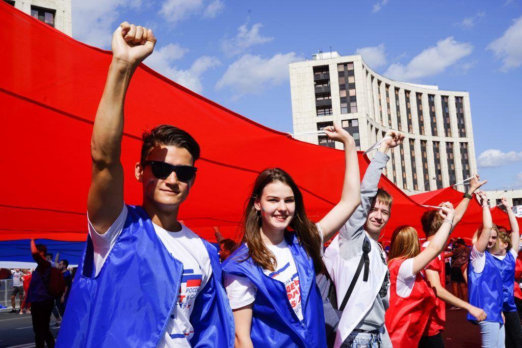 флаг, 350-лет Российскому флагу, флэшмоб