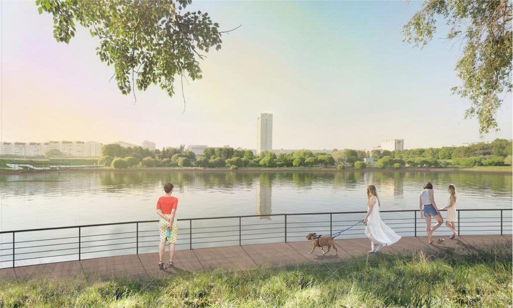 Большой городской пруд парк Победы Зеленоград