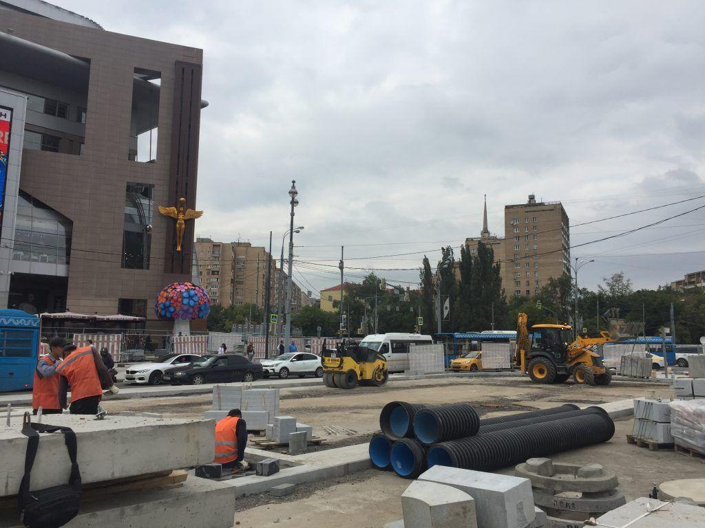 территория Киевского вокзала, благоустройство, стройматериалы
