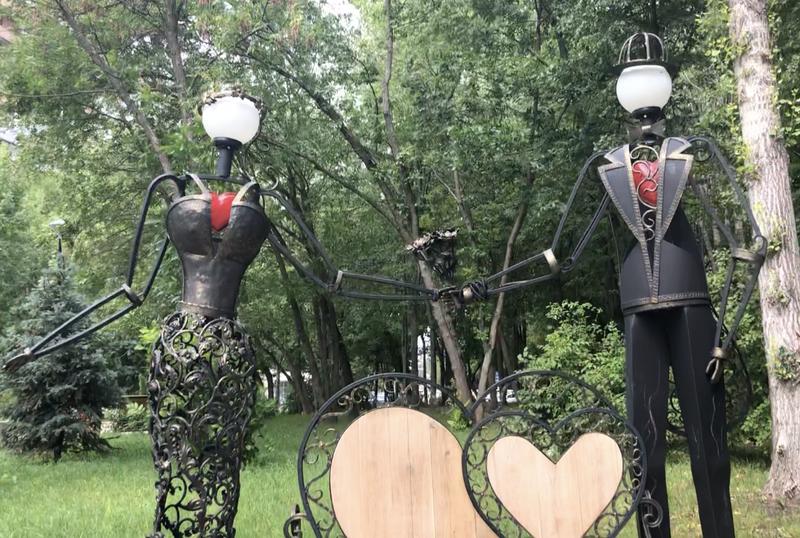 жених и невеста, сквер молодоженов