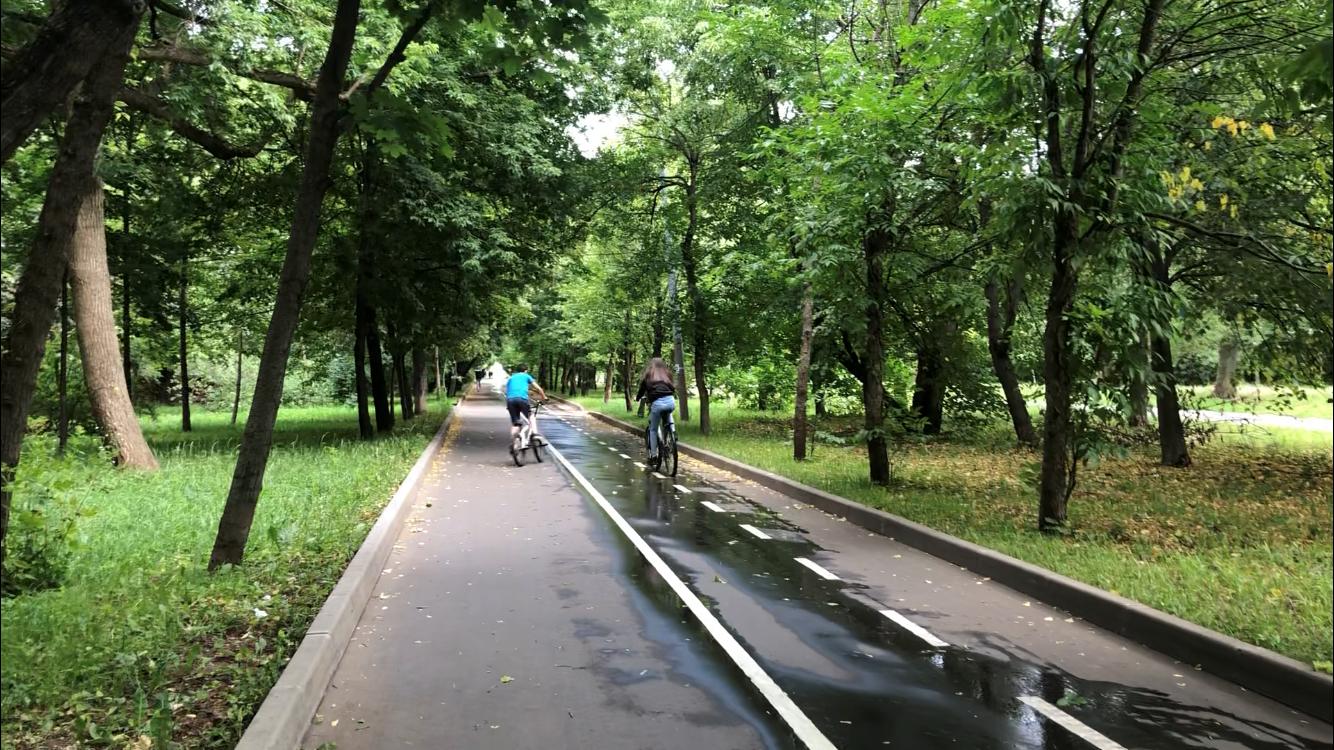 велодорожка, Сквер Молодожёнов