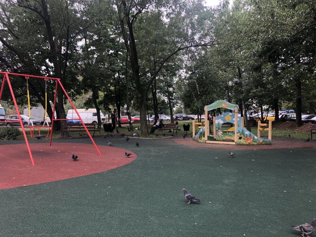благоустройство Капотня детская площадка скамейки