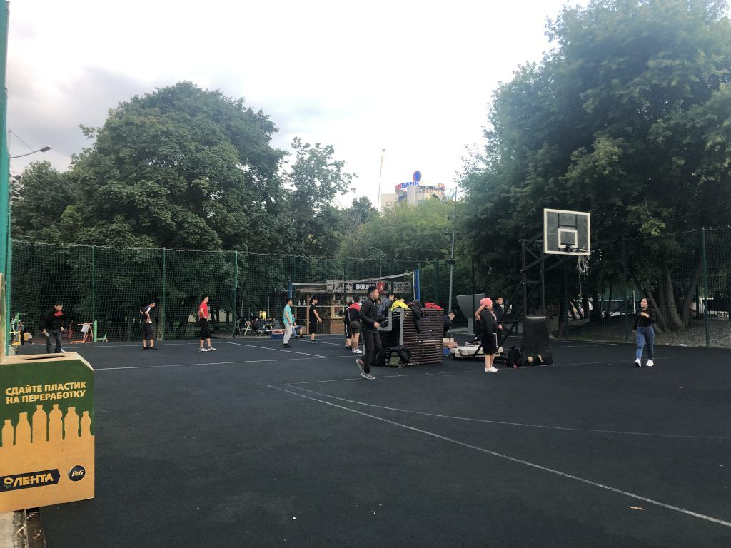 парк Красная Пресня волейбол стрит-бол