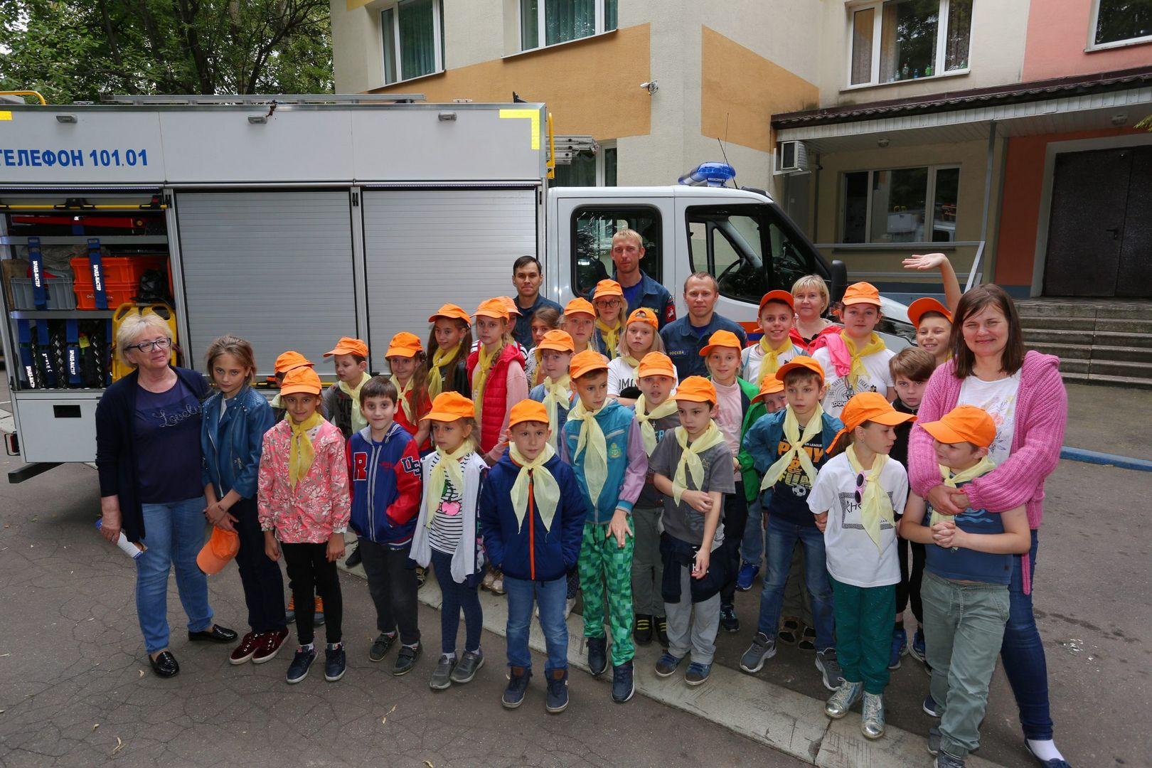 Спасатели провели мастер-класс для ребят из «Московской смены»