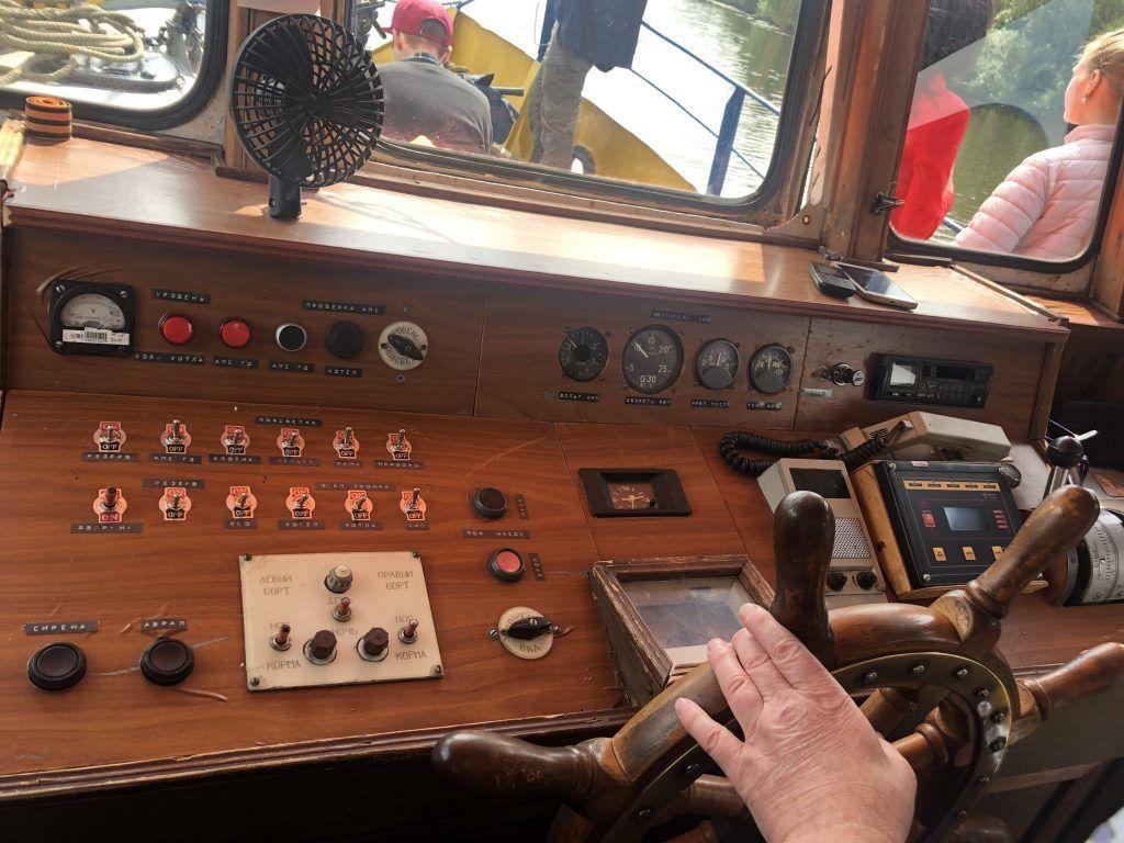 водолазное судно «Скат», река, каюта, управление