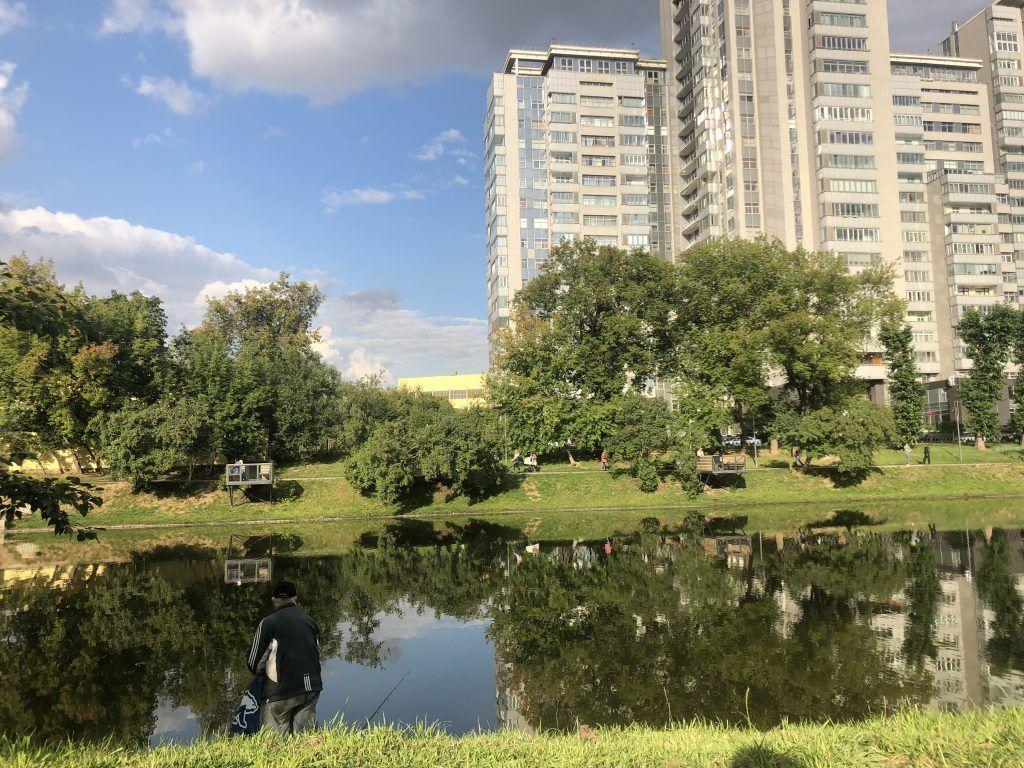 Красногвардейские пруды парк Красная Пресня рыбалка