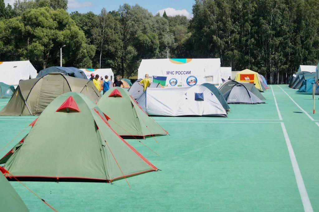 школа безопасности, Апаринки, соревнования, палатки
