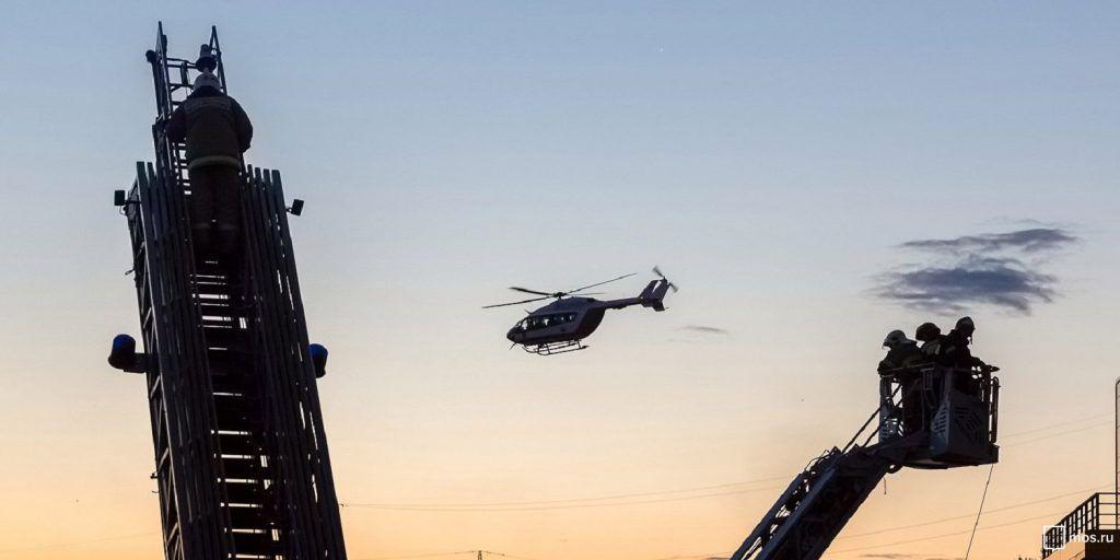 вертолеты МАЦ, тушение пожара, пожарные, спасатели
