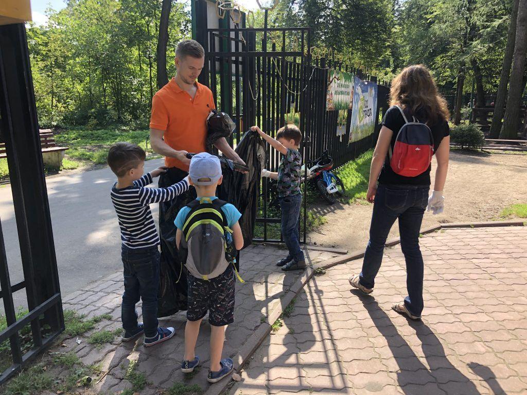 парк «Кузьминки-Люблино», забег, сбор мусора