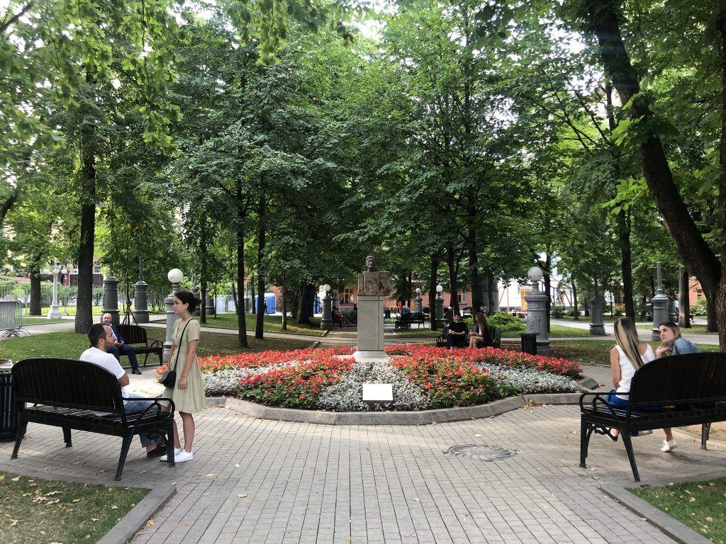 сад Эрмитаж, бюст, клумбы