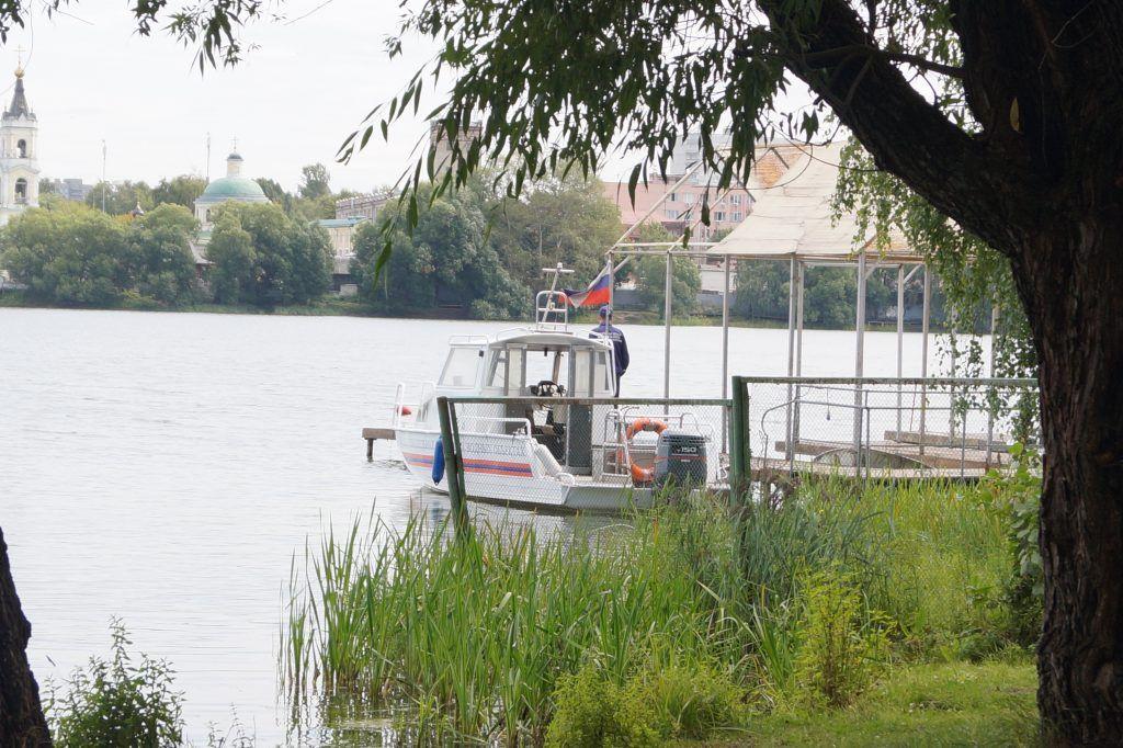 Лодочная станция, парк Косино, пруд