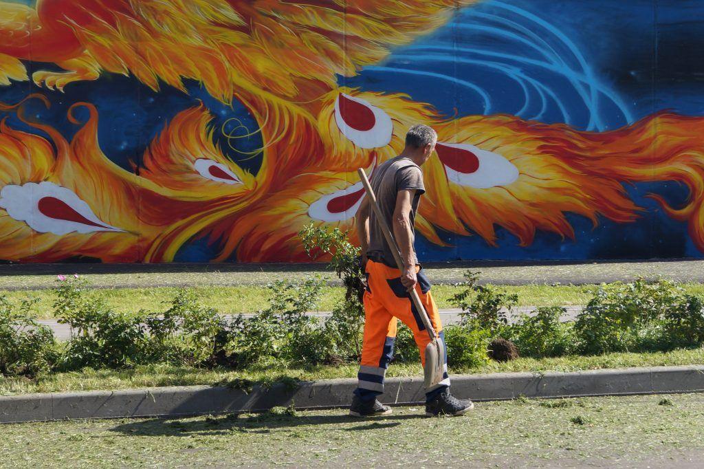 Реконструкция, благоустройство, Некрасовка, аллеи, граффити