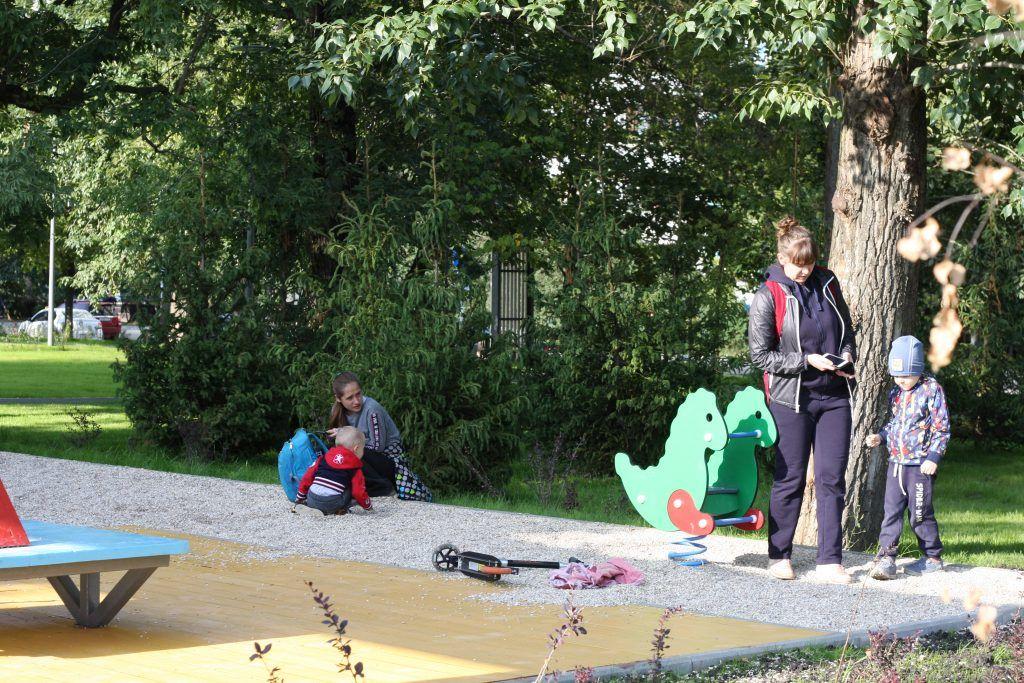 Крылатское, Осенний бульвар, благоустройство, дети, детская площадка