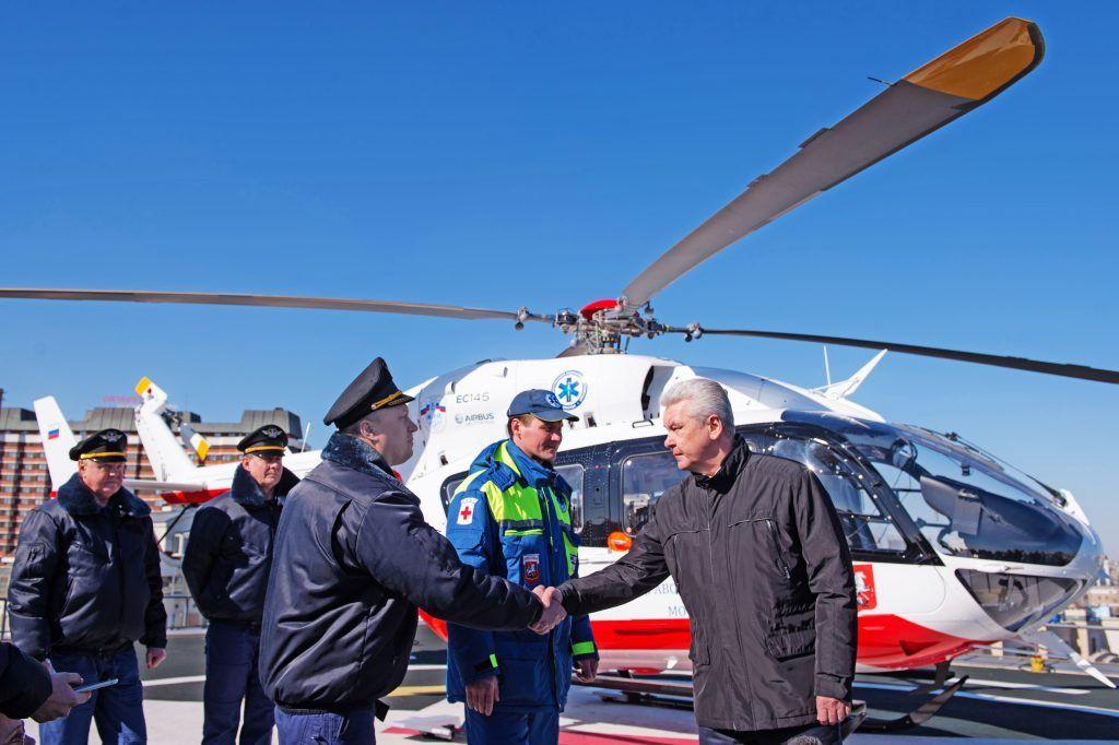 вертолеты МАЦ, спасатели, Сергей Собянин