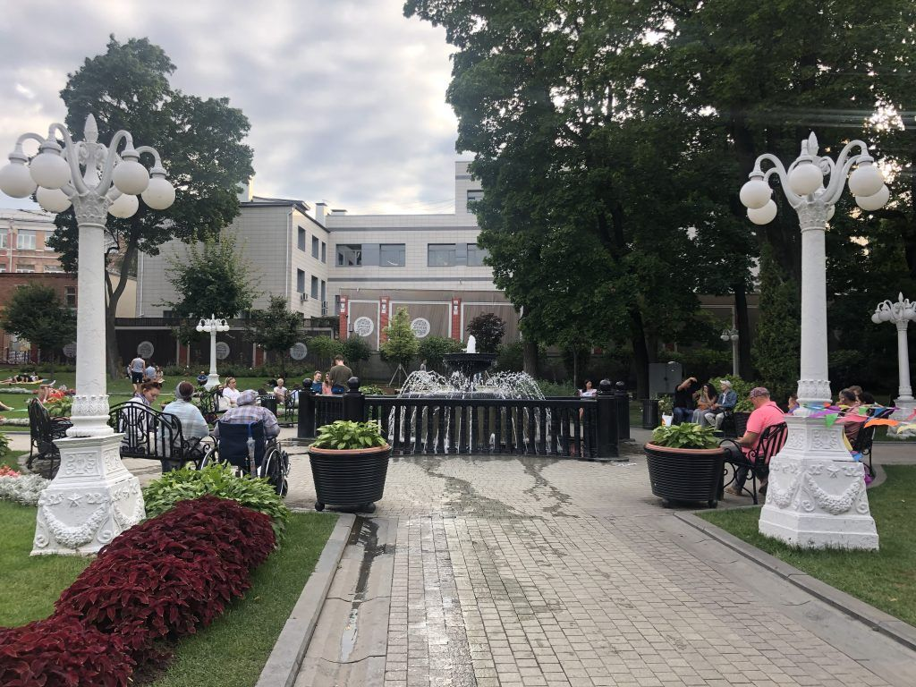 фонтан, сад Эрмитаж, фотографии