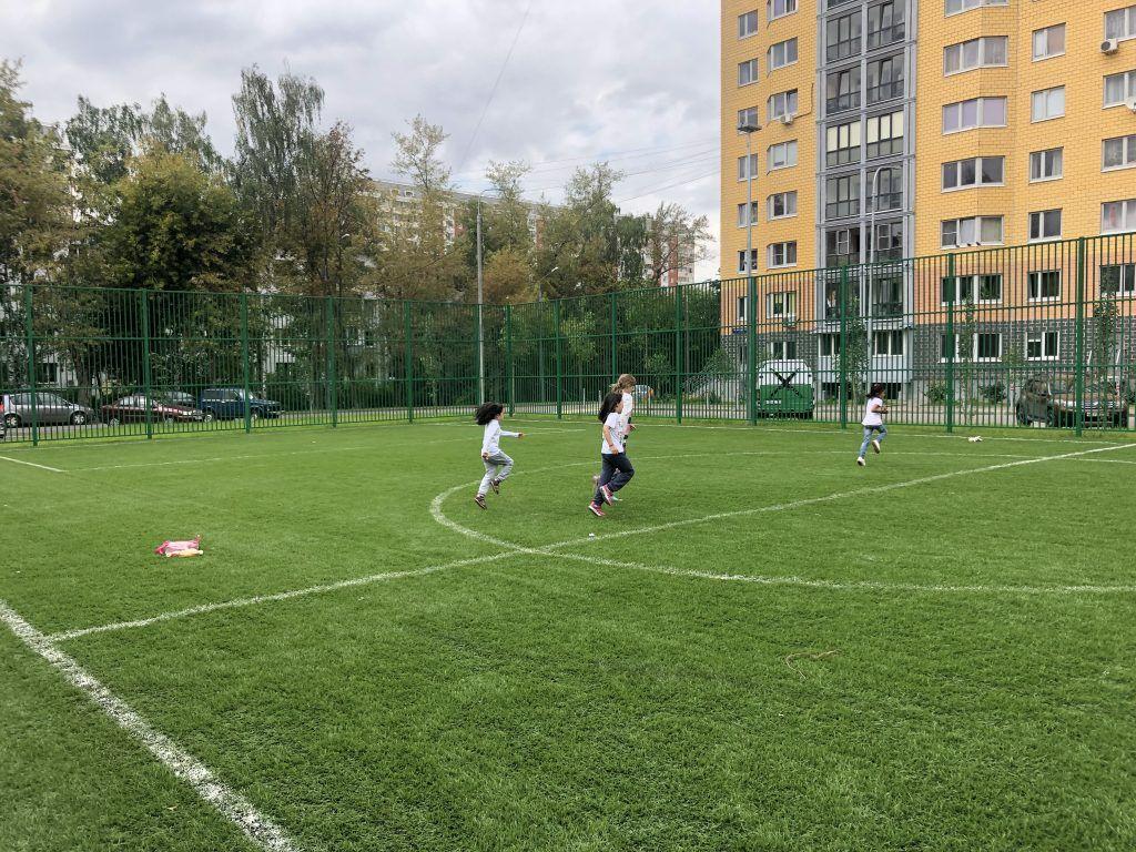 Футбольное поле с искусственным покрытием, благоустройство, Болотниковская улица