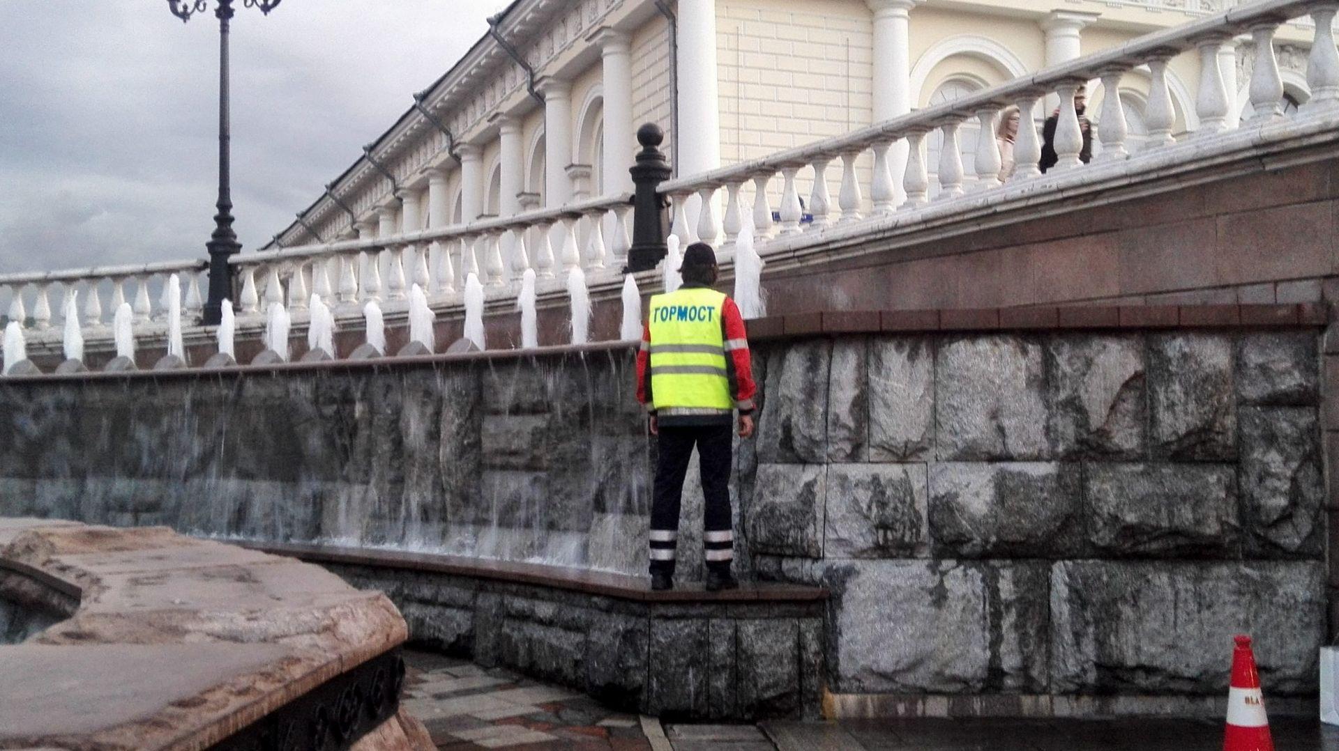 ГБУ Гормост, фонтан, очистка, благоустройство