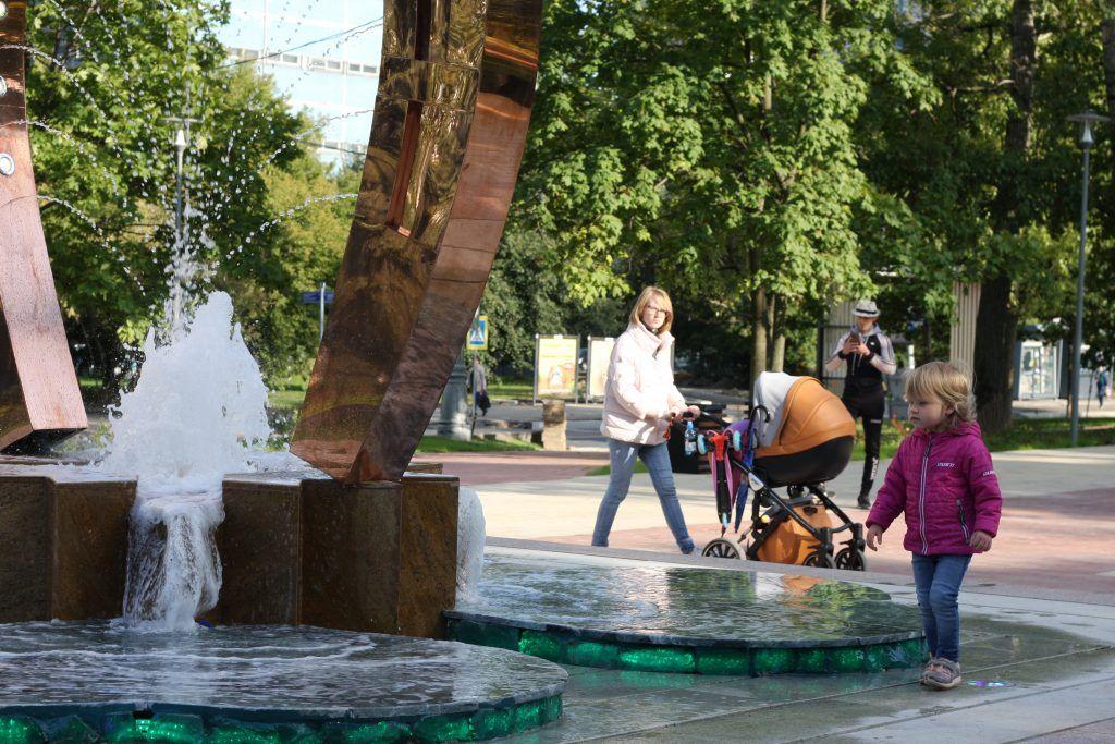 Крылатское, Осенний бульвар, благоустройство, фонтан