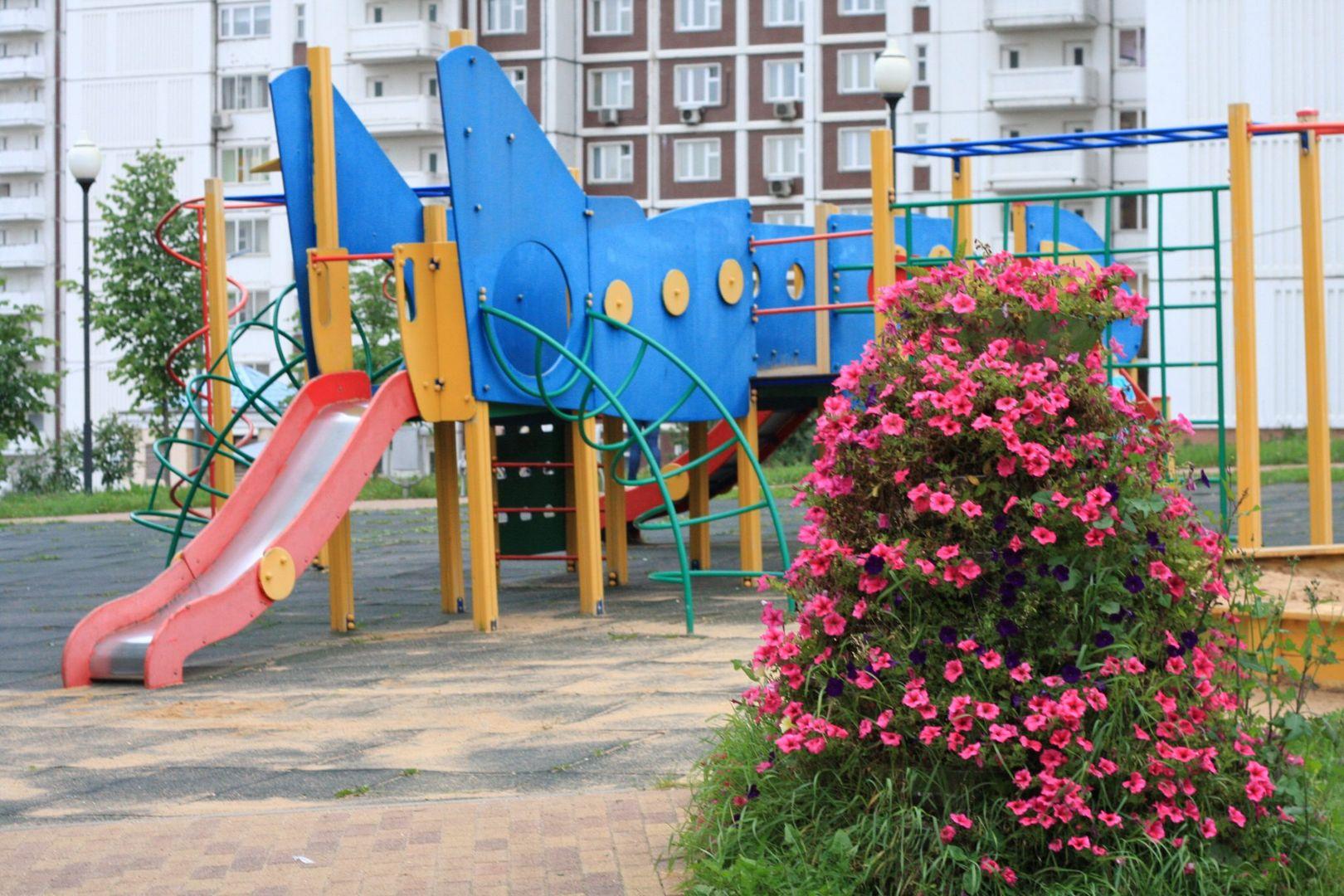 благоустройство, Строгино, детская площадка, озеленение