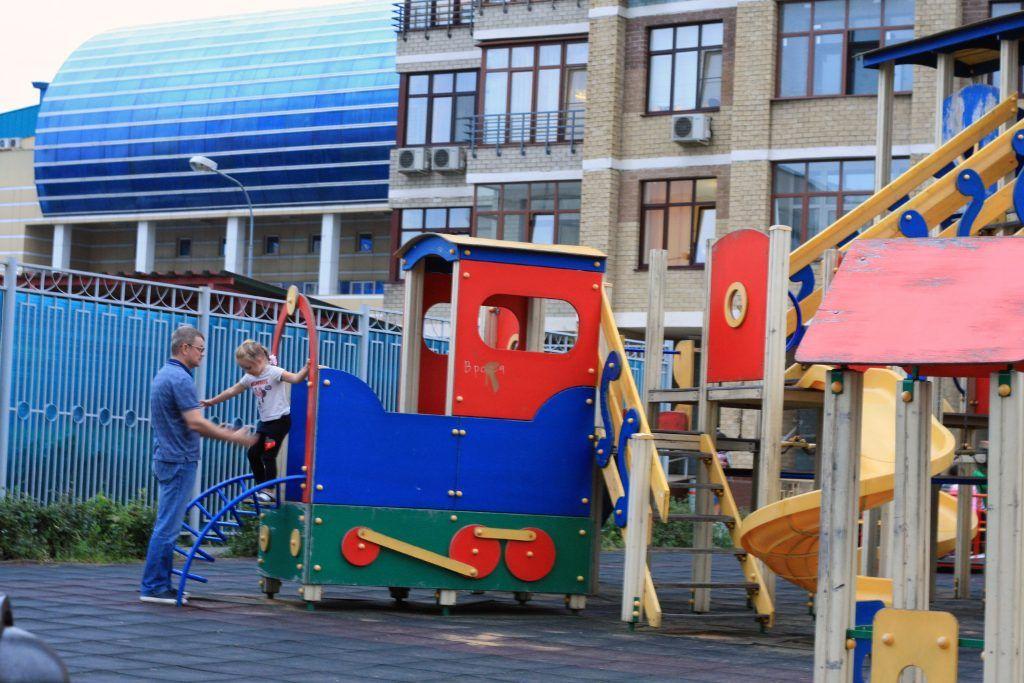 благоустройство, Строгино, детская площадка, горка