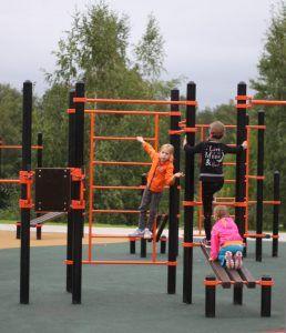 парк в Зеленограде, благоустройство, спортивная площадка