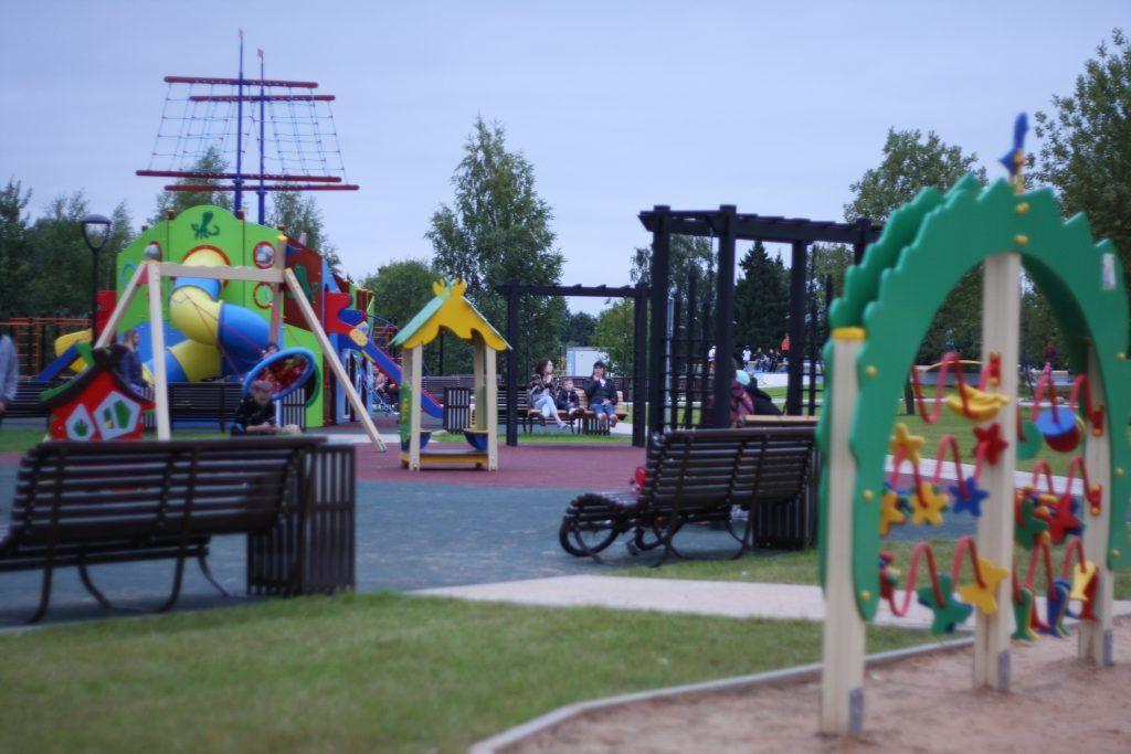 парк в Зеленограде, благоустройство, детская площадка