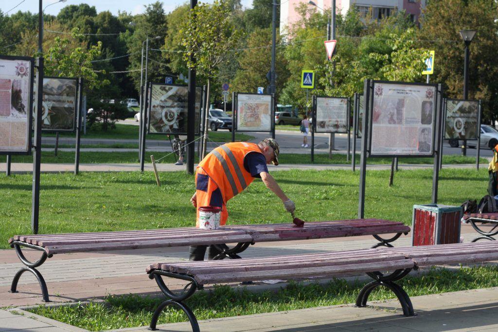 парк «70-летия Победы в Великой Отечественной войне», скамейки, благоустройство
