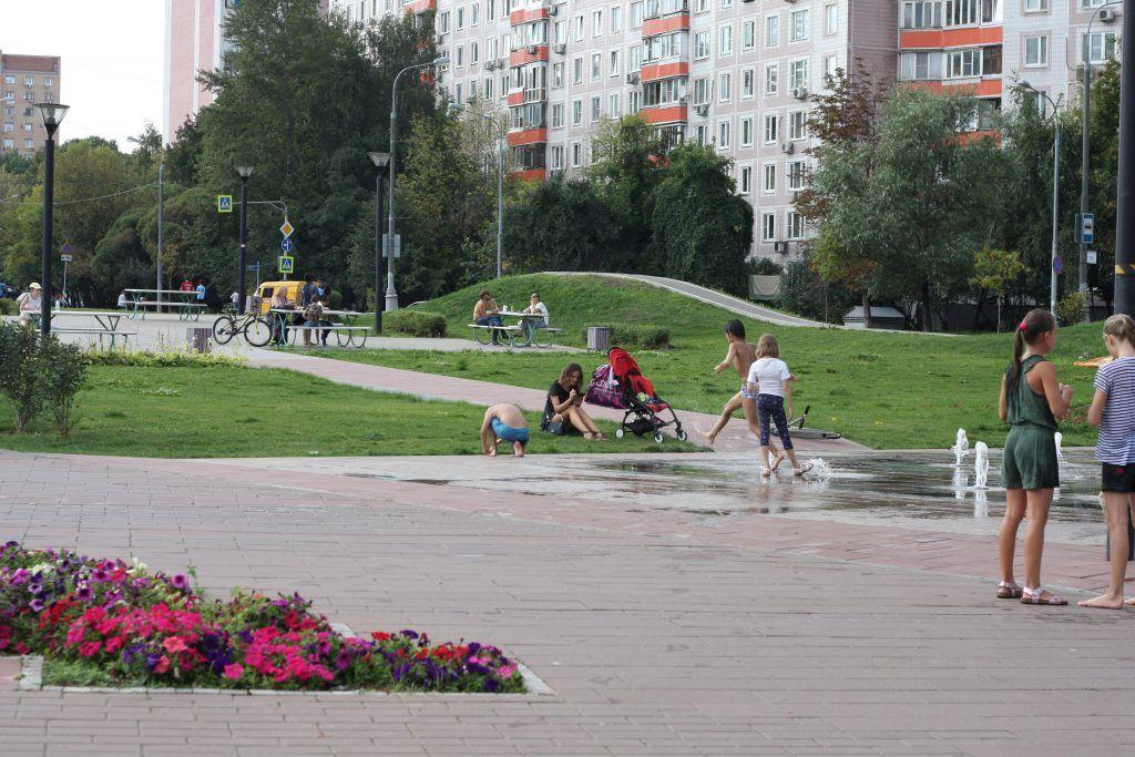 парк «70-летия Победы в Великой Отечественной войне», фонтан, благоустройство