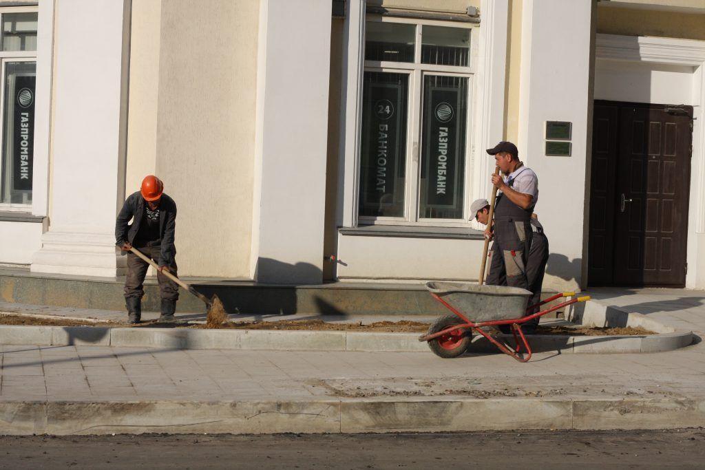 улица Остоженка, ремонт дорог, асфальт