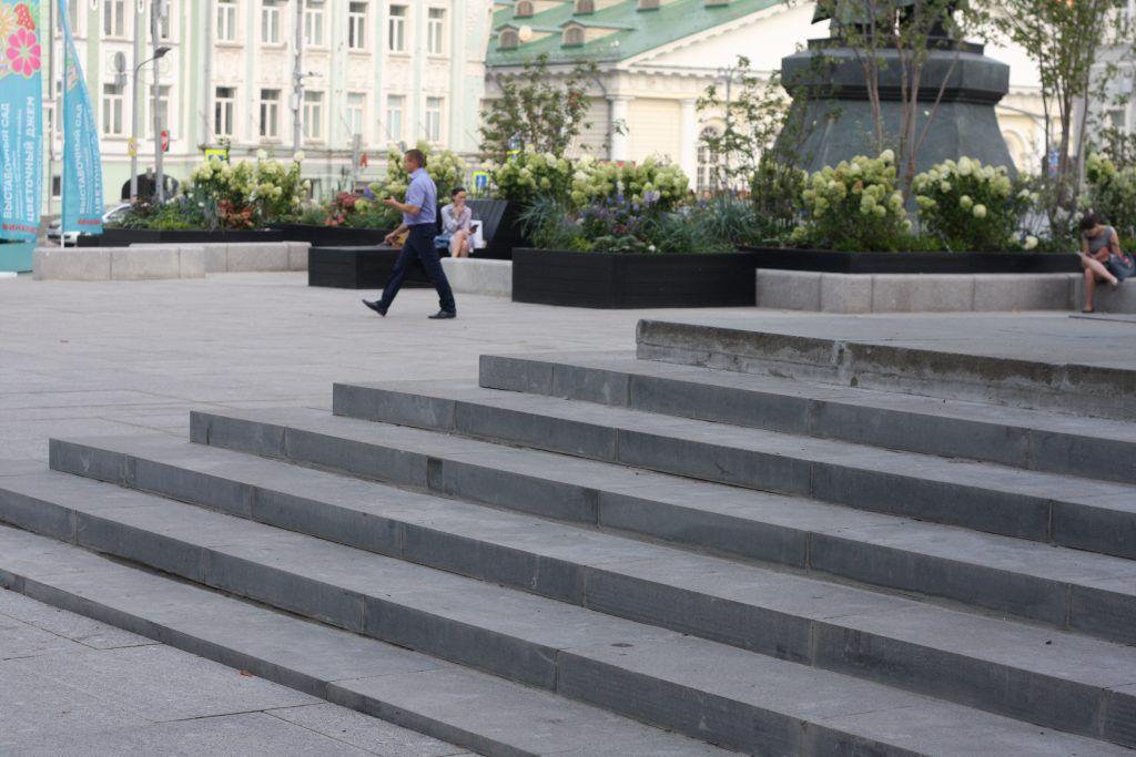 благоустройство, библиотека имени Ленина, лестница