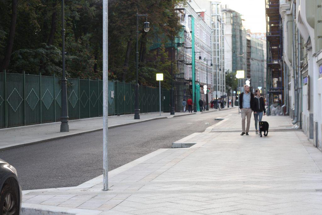 Большой Козихинский переулок, тротуар, плитка, благоустройство