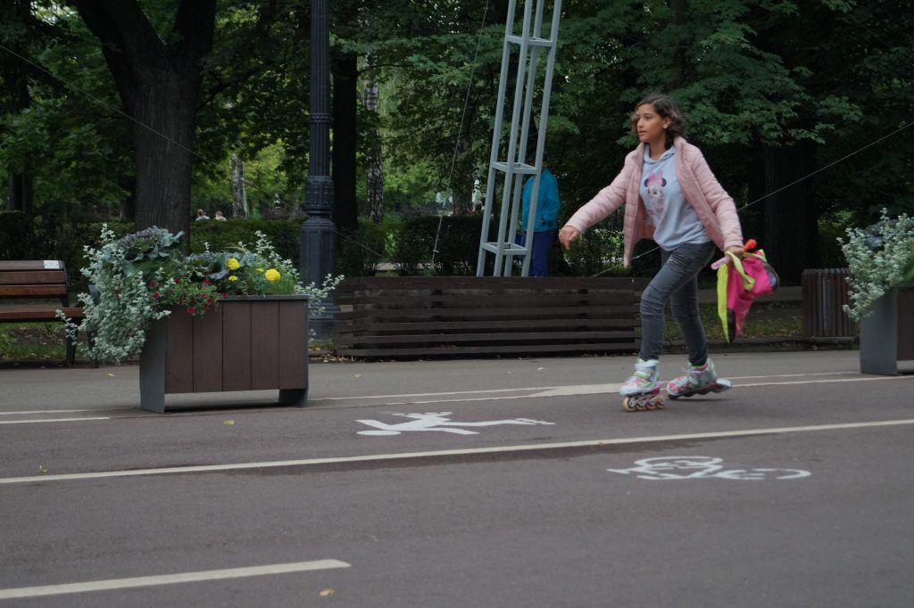 парк Сокольники, парки Москвы, велодорожки, ролики