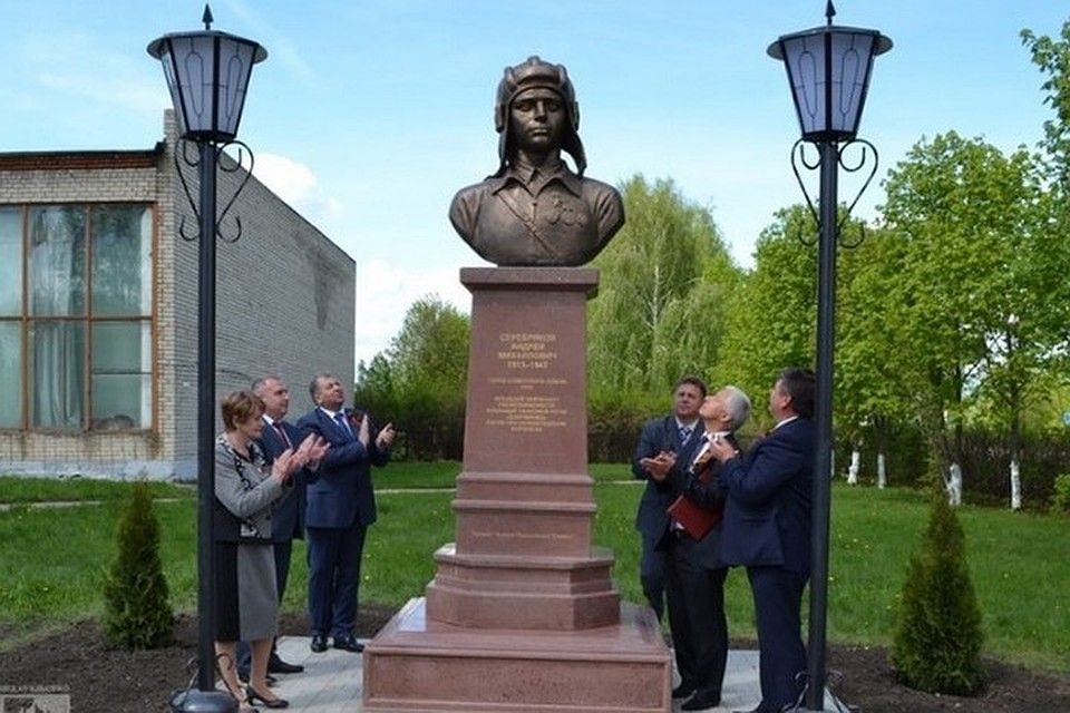 Памятник Серебрякову в Ряжске
