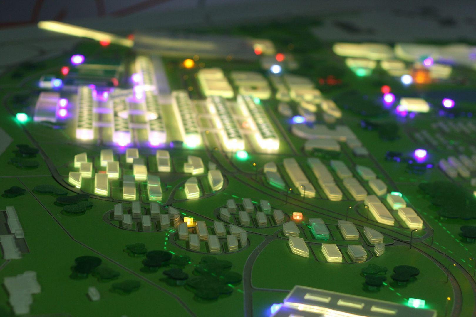 Подсвеченными прямоугольниками наглядно показаны все трансформаторные подстанции