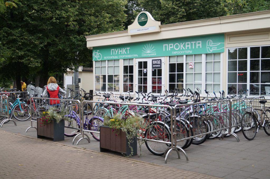 парк Сокольники, парки Москвы, велосипеды, велопрокат