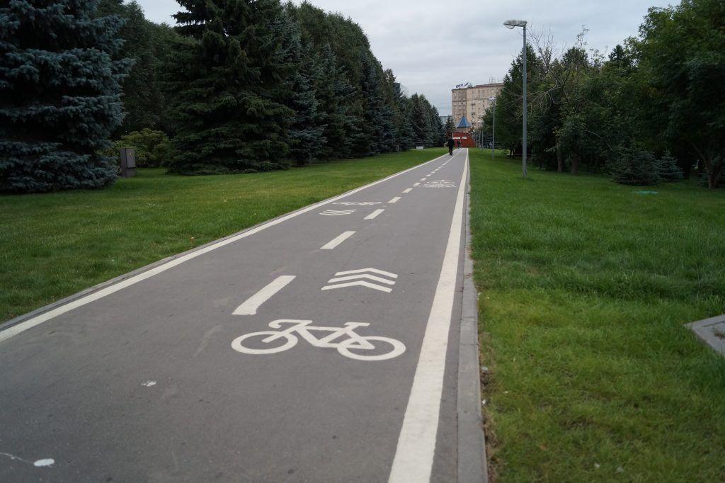 Велодорожка в Парке Победы, парки Москвы, велопрокат