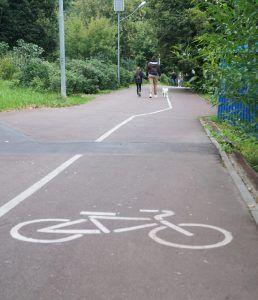 Велодорожки в парке Северное Тушино