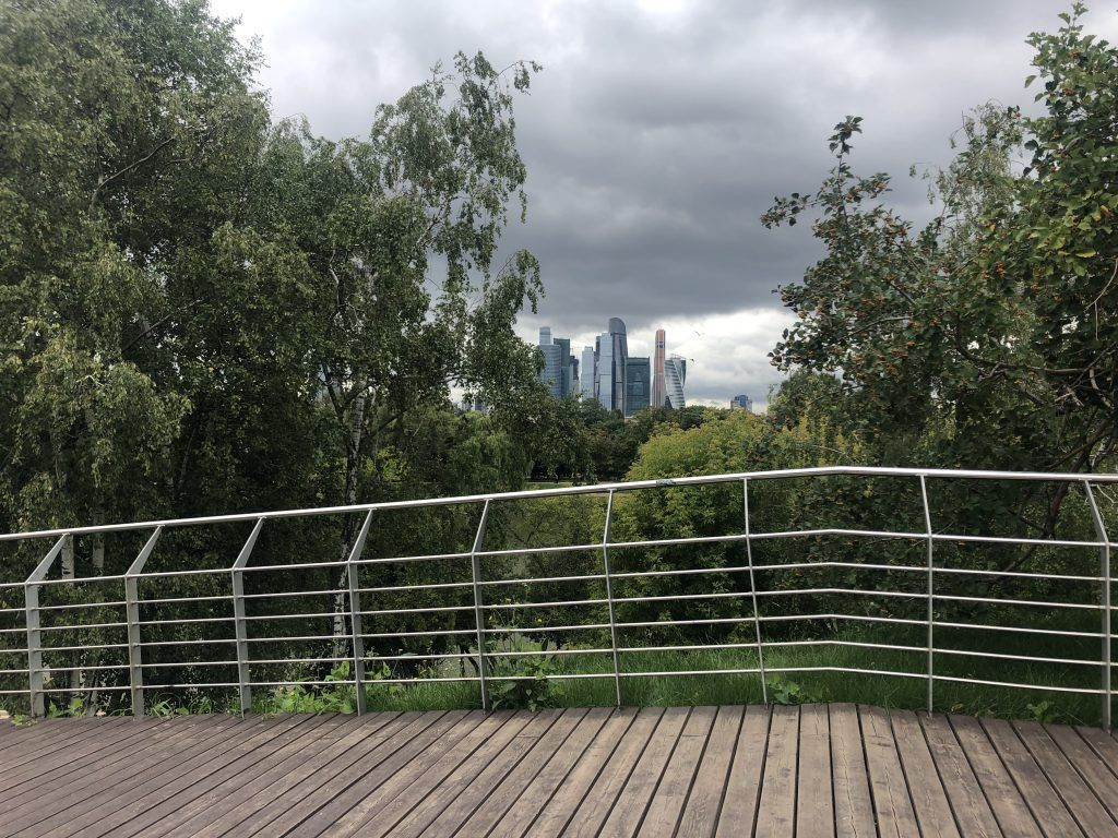 Новодевичьи пруды, парки Москвы, Москва-Сити