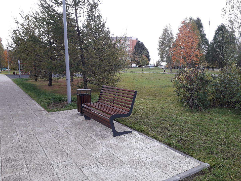 благоустройство, качели, скамейки, Дюссельдорфский парк, Марьино