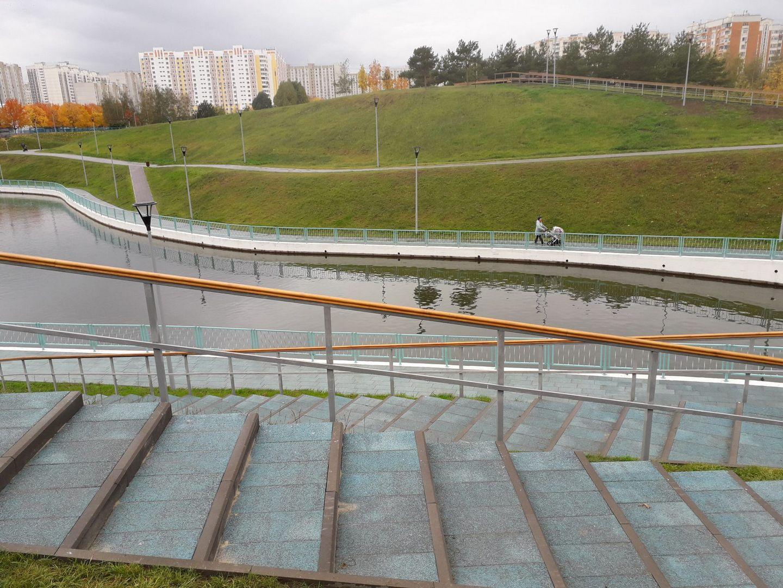 благоустройство, лестница, Дюссельдорфский парк, Марьино