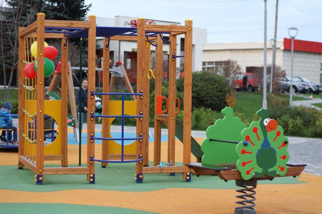 благоустройство, сквер, Митино, детская площадка