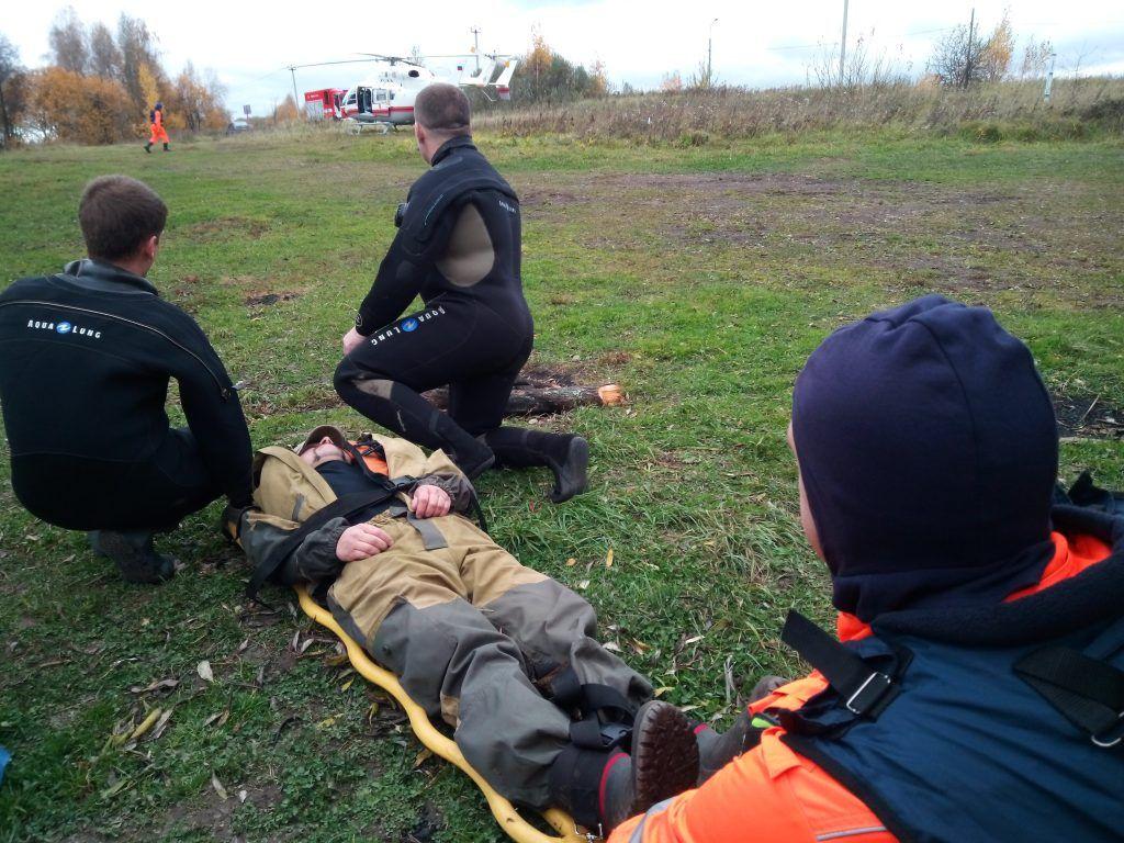 спасатели, МАЦ, вертолет,рыбак