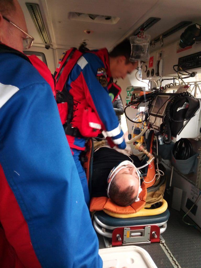 спасатели, МАЦ, вертолет, рыбак