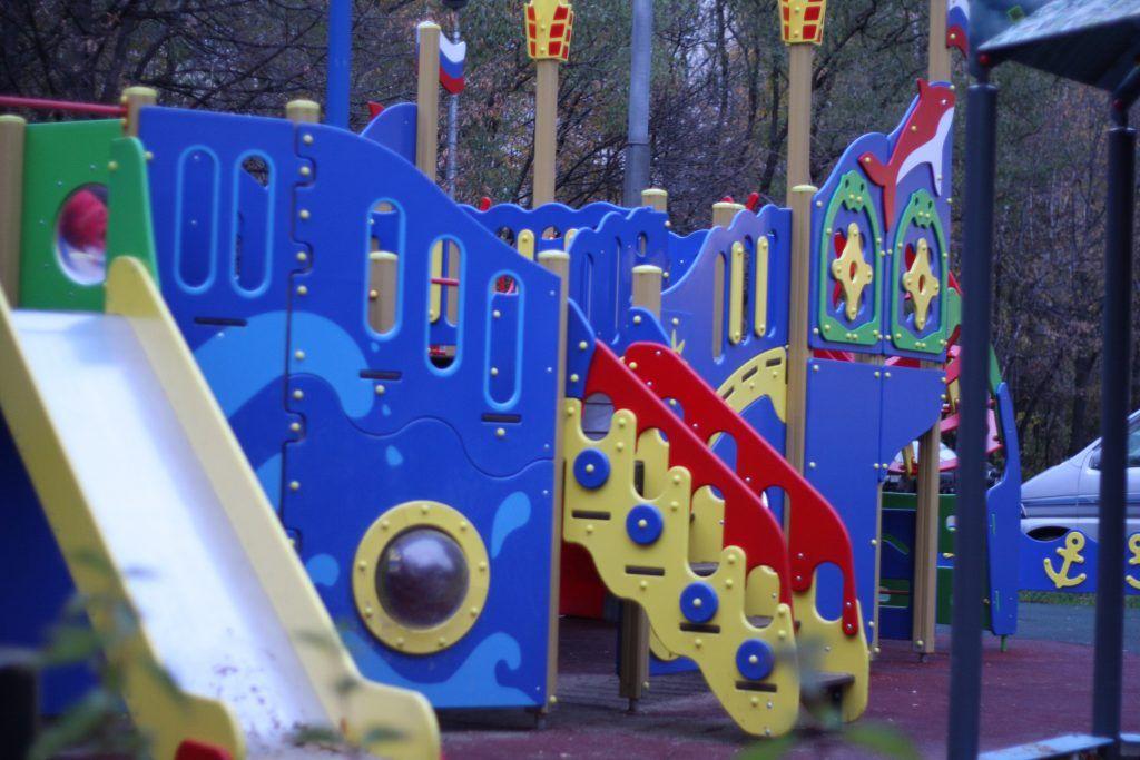 благоустройство, Красный Казанец, детская площадка, горка, мой район