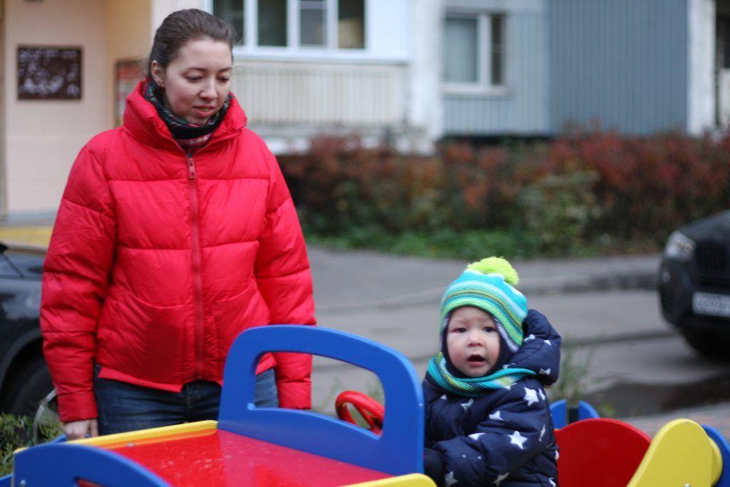благоустройство, Красный Казанец, детская площадка, машина, мой район