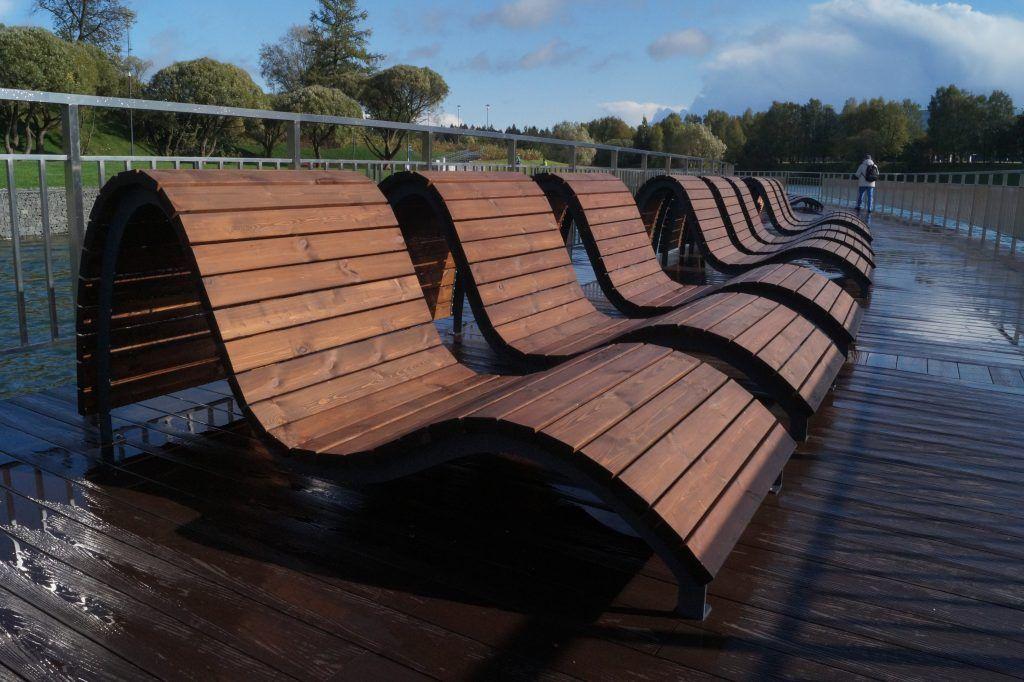 лежаки, парк Победы, Зеленоград, благоустройство