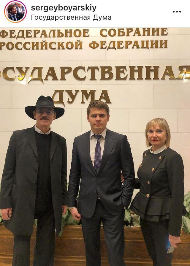Михаил и Сергей Боярский и Лариса Луппиан фото Instagram sergeyboyarsky, анинырассказы