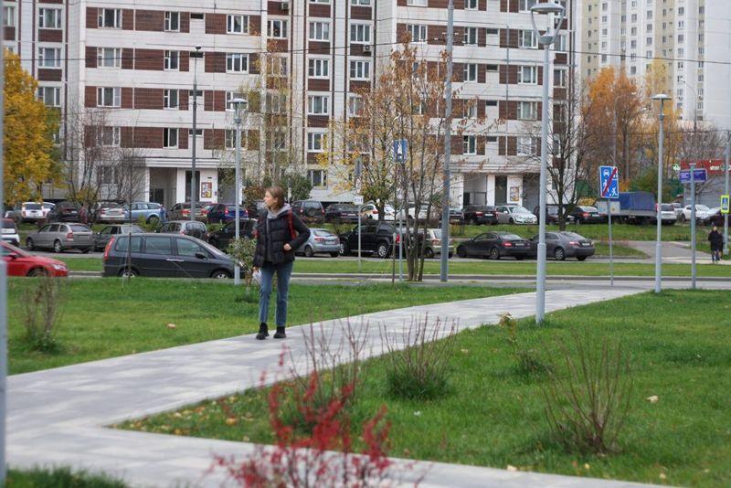 осень, улица, Москва