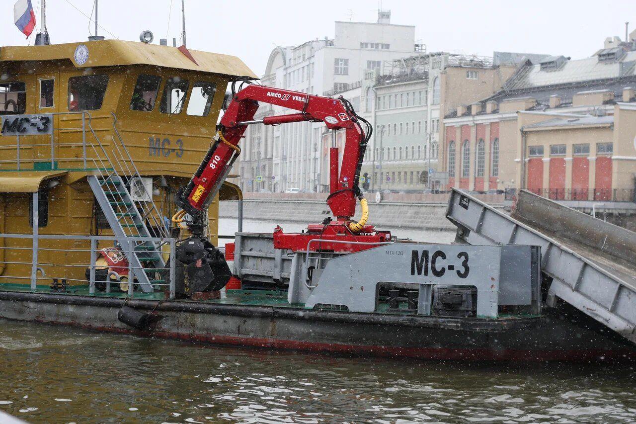 судно-мусоросборщик, Мосводосток, Москва-река