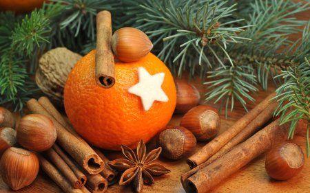 мандарины, новый год, праздник